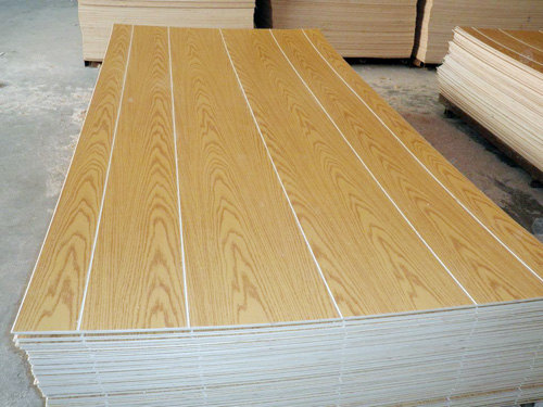 grooved paper overlaid plywood
